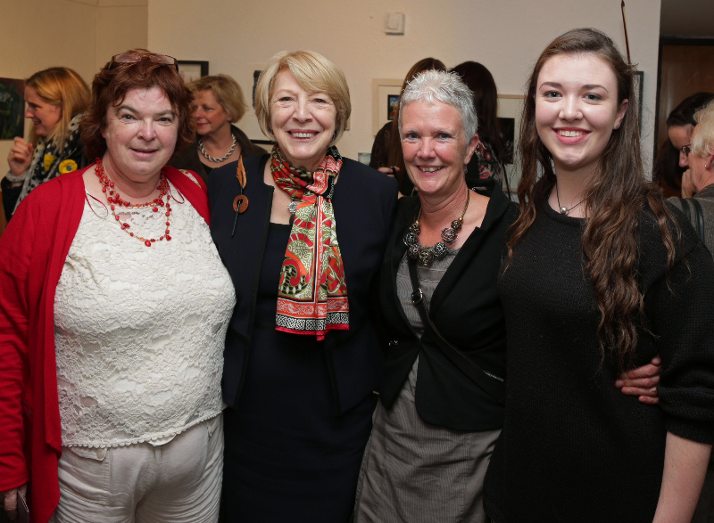 At the Small Works Exhibition in Connemara Nat Park in Letterfrack were Aingeal ni Chonghaile Sabina Higgins Clare OToole and her daughter Cliodhhna.