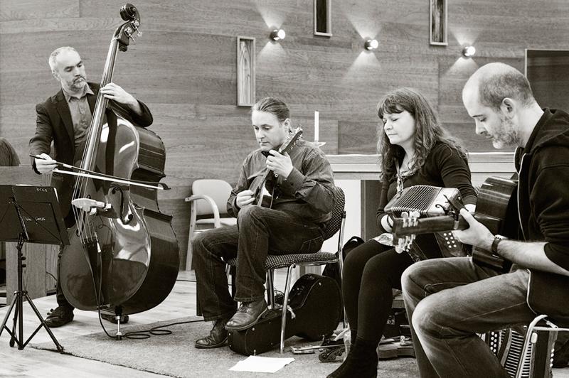 The Josephine Marsh Band Kylemore Abbey bw